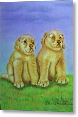 Metal Print featuring the painting Golden Retriever by Thomas J Herring