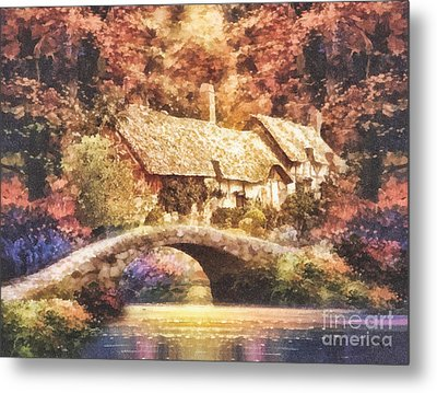 Golden Ripple Metal Print by Mo T