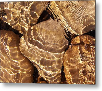 Metal Print featuring the photograph Golden Ripples by Kathi Mirto
