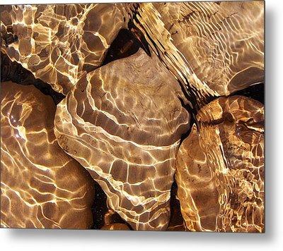 Golden Ripples Metal Print by Kathi Mirto