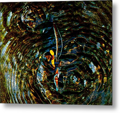 Golden Ripples Metal Print