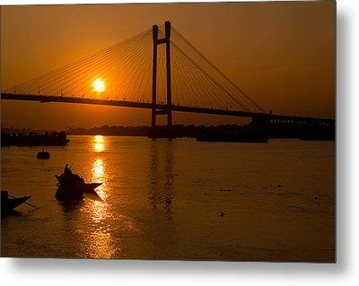 Golden Sail Metal Print by Sourav Bose