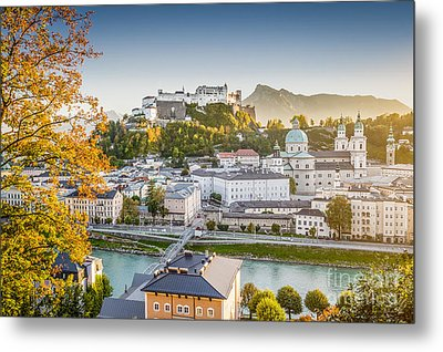 Golden Salzburg Metal Print by JR Photography