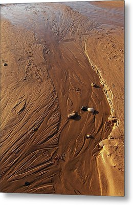 Metal Print featuring the photograph Golden Sand Streams by Kathi Mirto