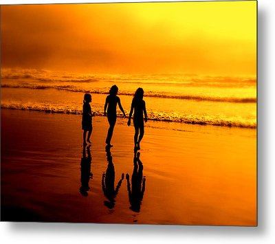 Metal Print featuring the photograph Golden Sands  by Micki Findlay