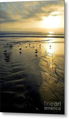 Golden Sandy Canvas Metal Print