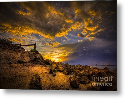 Golden Shore Metal Print by Marvin Spates