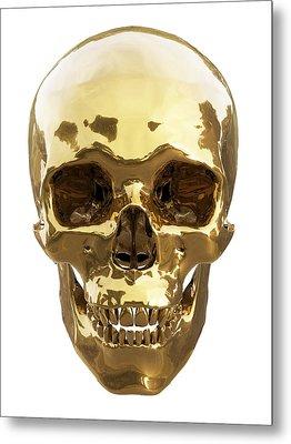 Golden Skull Metal Print by Vitaliy Gladkiy
