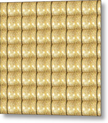 Golden Sparkle Biscuits Pattern Unique Graphic V3 Metal Print by Navin Joshi
