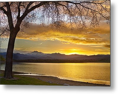 Golden Spring Time Twin Peaks Sunset View Metal Print by James BO  Insogna