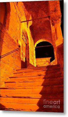 Golden Stairs Metal Print by Ramona Matei