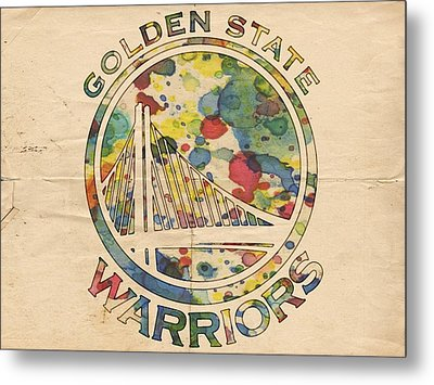Golden State Warriors Logo Art Metal Print