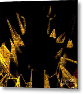 Golden Statues - Brighter Metal Print by David Winson
