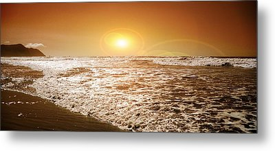 Metal Print featuring the photograph Golden Sunset by Aaron Berg