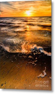 Golden Sunset Metal Print by Adrian Evans
