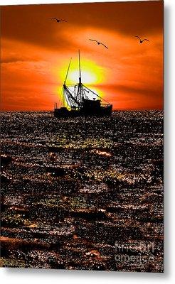 Golden Trawler - Outer Banks Metal Print