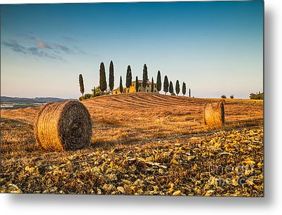 Golden Tuscany 2.0 Metal Print by JR Photography