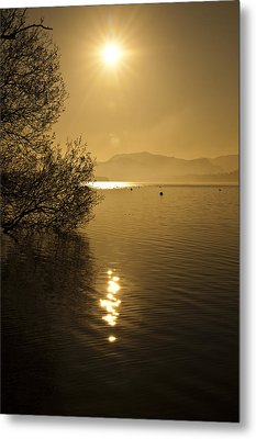 Metal Print featuring the photograph Golden Ullswater Evening by Meirion Matthias