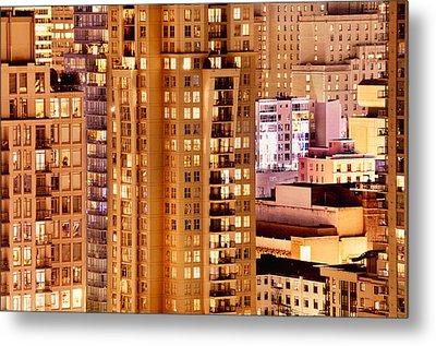 Metal Print featuring the photograph Golden Vancouver Cityscape Cdxii By Amyn Nasser by Amyn Nasser