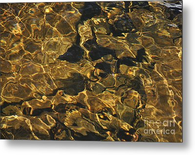 Golden Waters Metal Print
