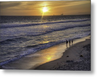 Golden West Sunset Metal Print