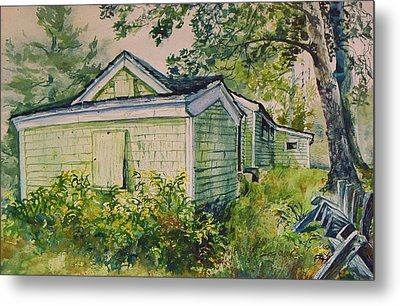Metal Print featuring the painting Goldenrod by Joy Nichols
