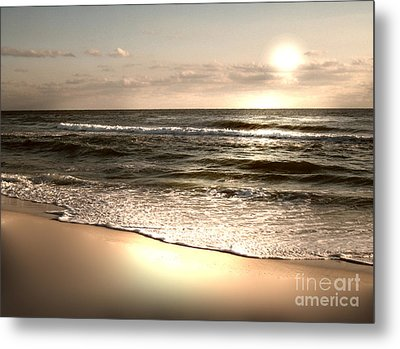 Goldest Shoreline Metal Print by Jeffery Fagan