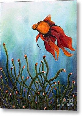 Goldfish Metal Print by Jolanta Anna Karolska