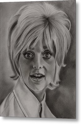 Goldie Hawn Metal Print by Brian Broadway