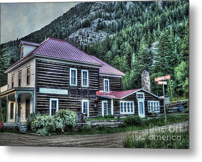 Goldminer Hotel Metal Print by Juli Scalzi