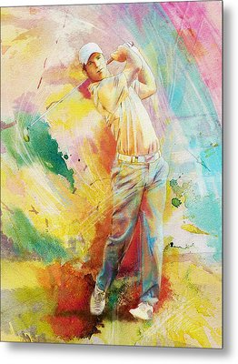 Golf Action 01 Metal Print by Catf
