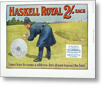Golf Advertisement Metal Print by British Library