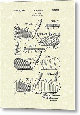 Golf Club 1936 Patent Art Metal Print by Prior Art Design