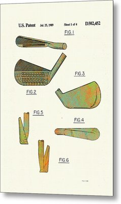 Golf Club Patent-1989 Metal Print