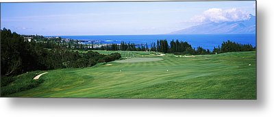 Golf Course At The Oceanside, Kapalua Metal Print
