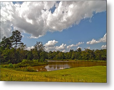 Metal Print featuring the photograph Golf Course Landscape by Alex Grichenko