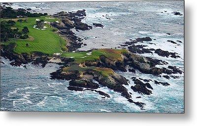 Golf Course On An Island, Pebble Beach Metal Print
