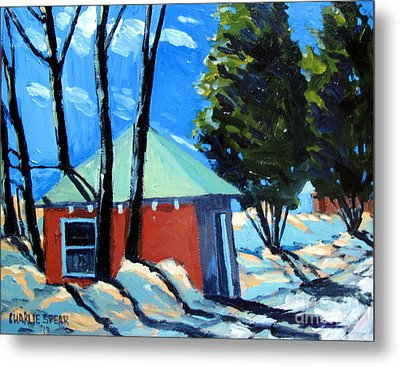 Golf Course Shed Series No.4 Metal Print by Charlie Spear
