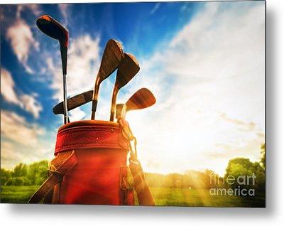 Golf Equipment  Metal Print by Michal Bednarek
