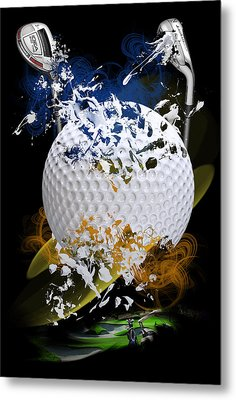 Golf Explosion Metal Print