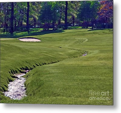 Golf Hazards Metal Print