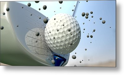 Golf Impact Metal Print