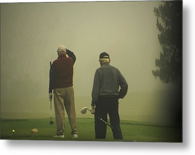 Golf In A Fog Metal Print