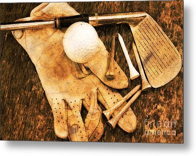 Golf Memorabilia Metal Print by Charline Xia