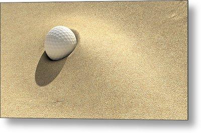 Golf Sand Trap Metal Print by Allan Swart
