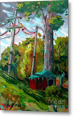 Golf Shed Series No 15 A Synthesis Metal Print by Charlie Spear