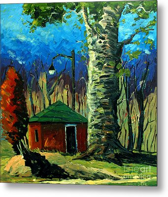 Golf Shed Series No 17 Metal Print by Charlie Spear