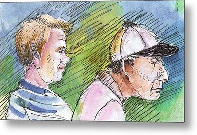 Golfers In Soufflenheim 01 Metal Print by Miki De Goodaboom