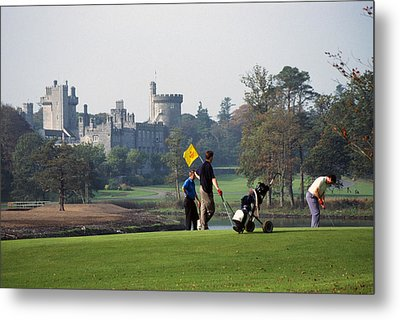 Golfing At Dromoland Castle Metal Print by Carl Purcell