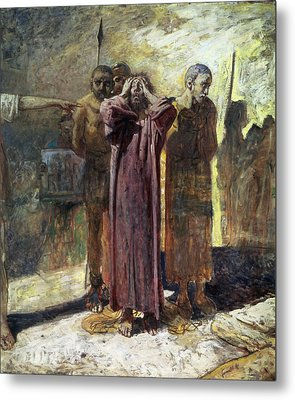 Golgotha, 1892-93 Oil On Canvas Metal Print by Ge